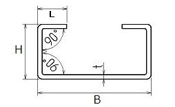 ステンレス C形鋼(リップ溝形鋼)