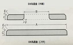 ステンレス DX丸座金(穴明・フタ)